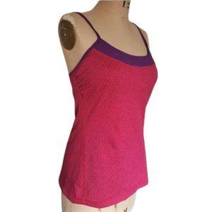 Prana athletic yoga pink purple tank top